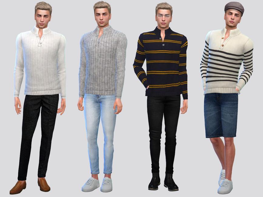 Моды мужской свитер Симс 4