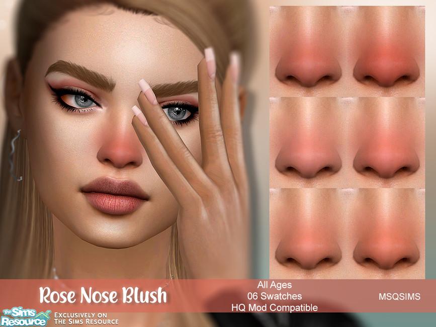 Моды румяна на нос Симс 4