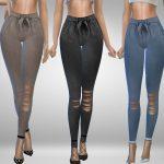 Моды штаны для девушек для Симс 4