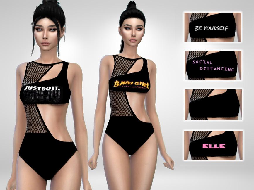 Моды женские купальники для Симс 4