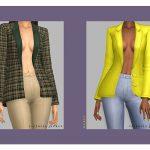 Моды женский пиджак Симс 4