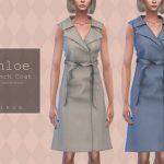Моды женское пальто Симс 4