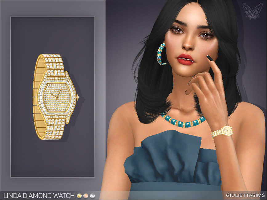 Наручные часы Linda Diamond Watch (left wrist) Симс 4
