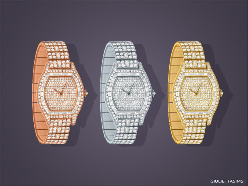 Наручные часы Linda Diamond Watch (left wrist) Симс 4 (картинка 2)