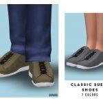 Обувь Classic Suede Shoes (Child) Симс 4
