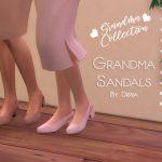 Обувь Grandma Sandals Симс 4