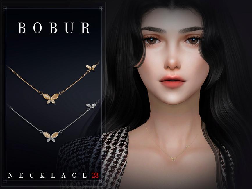 Ожерелье Bobur Necklace 28 Симс 4 (картинка 3)