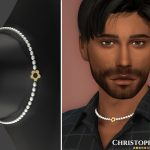 Ожерелье Kacey Necklace Male Симс 4
