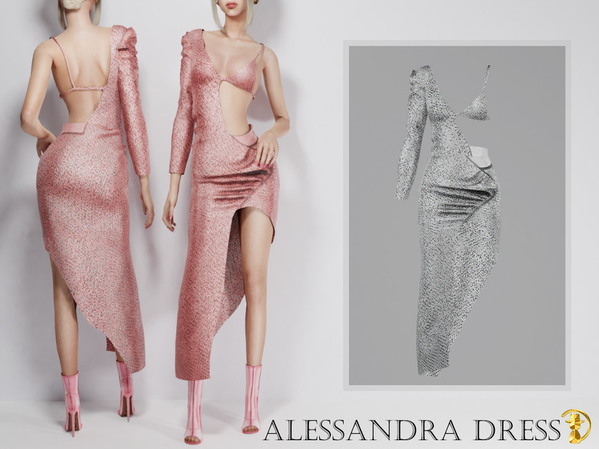 Платье Alessandra Dress Симс 4