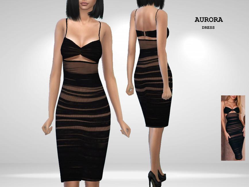 Платье Aurora Dress Симс 4