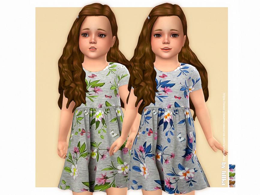 Платье для девочек Elodie Dress Симс 4
