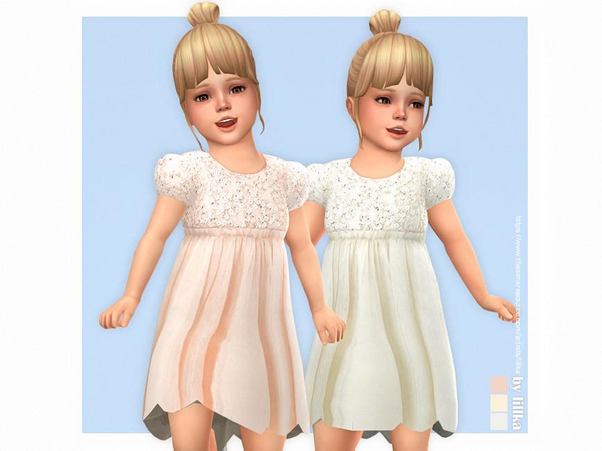 Платье для тодлеров Elin Dress Симс 4