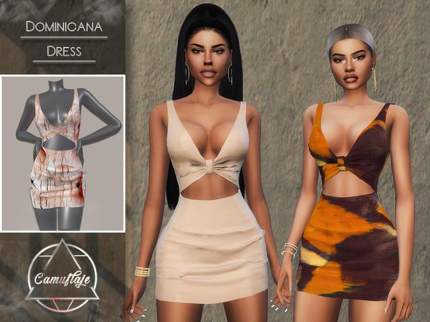 Платье Dominicana (Dress) Симс 4