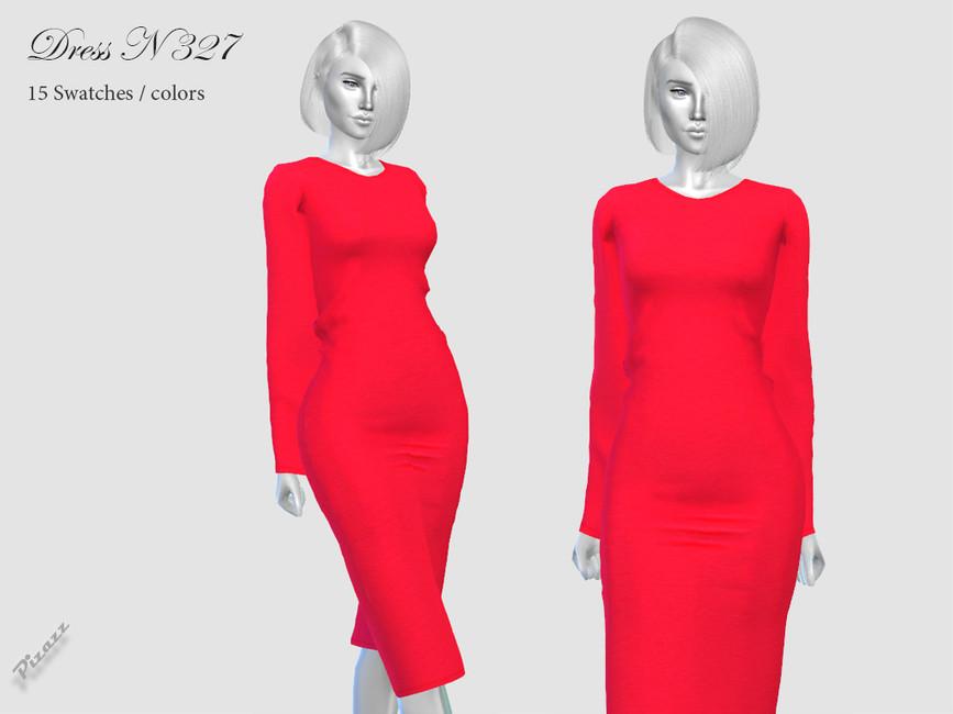 Платье DRESS N327 Симс 4
