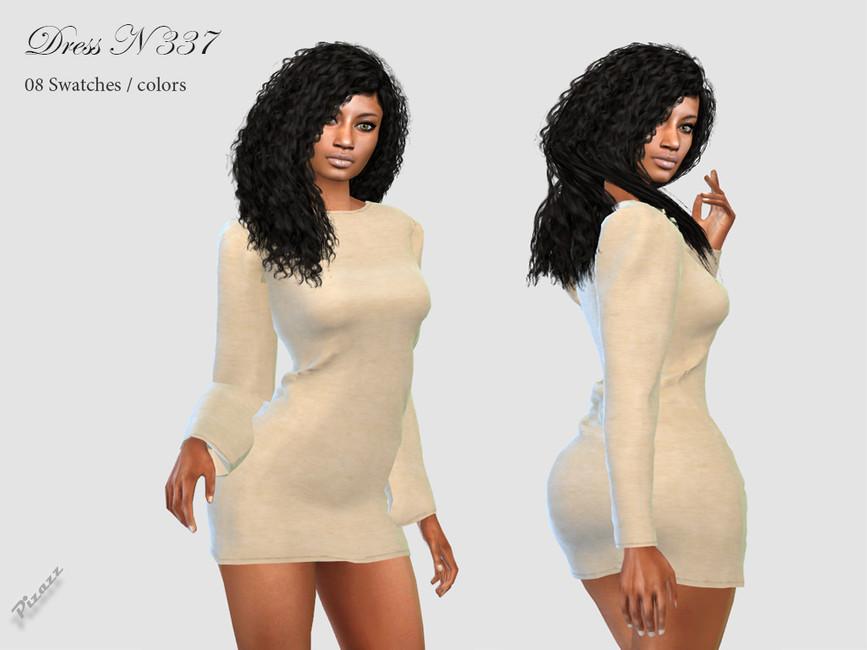 Платье DRESS N337 Симс 4