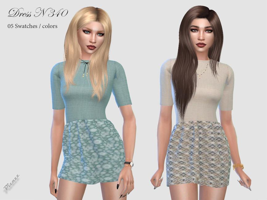 Платье DRESS N340 Симс 4