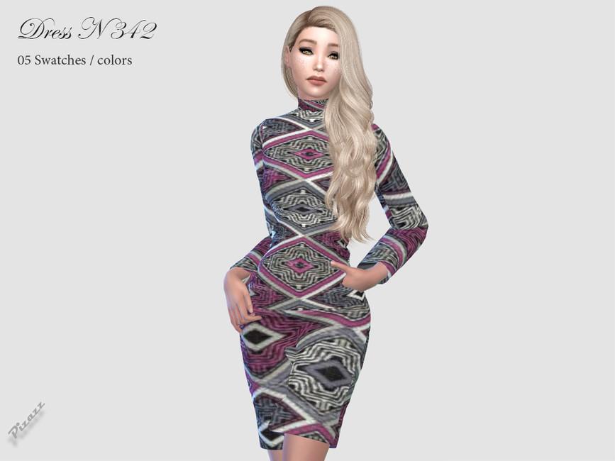 Платье DRESS N342 Симс 4