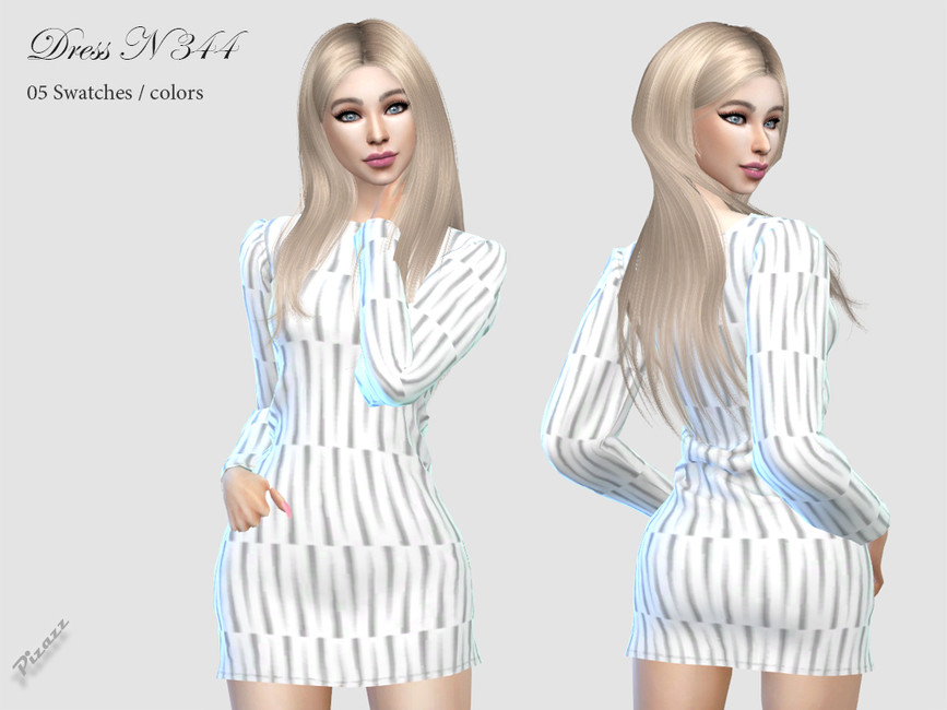 Платье DRESS N344 Симс 4