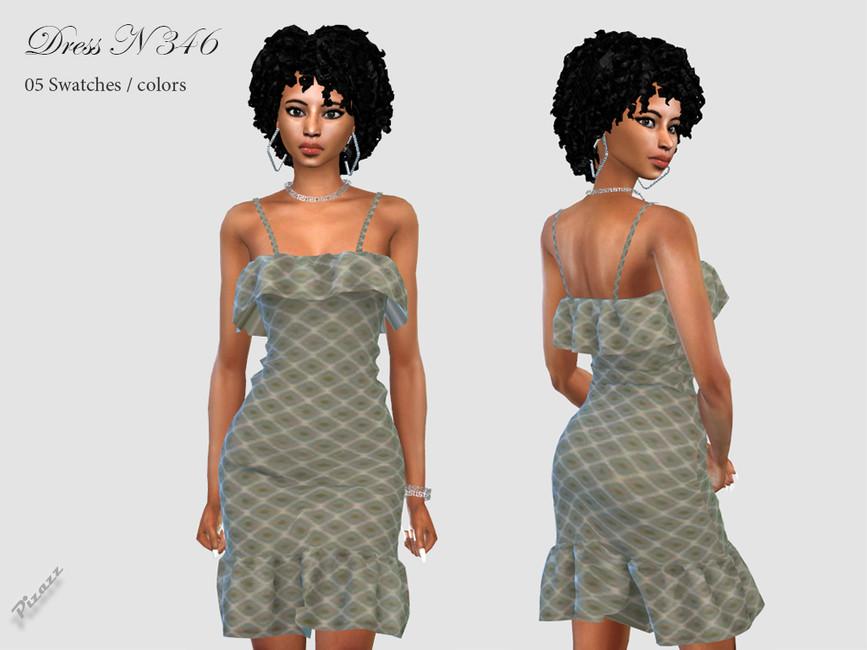 Платье DRESS N346 Симс 4