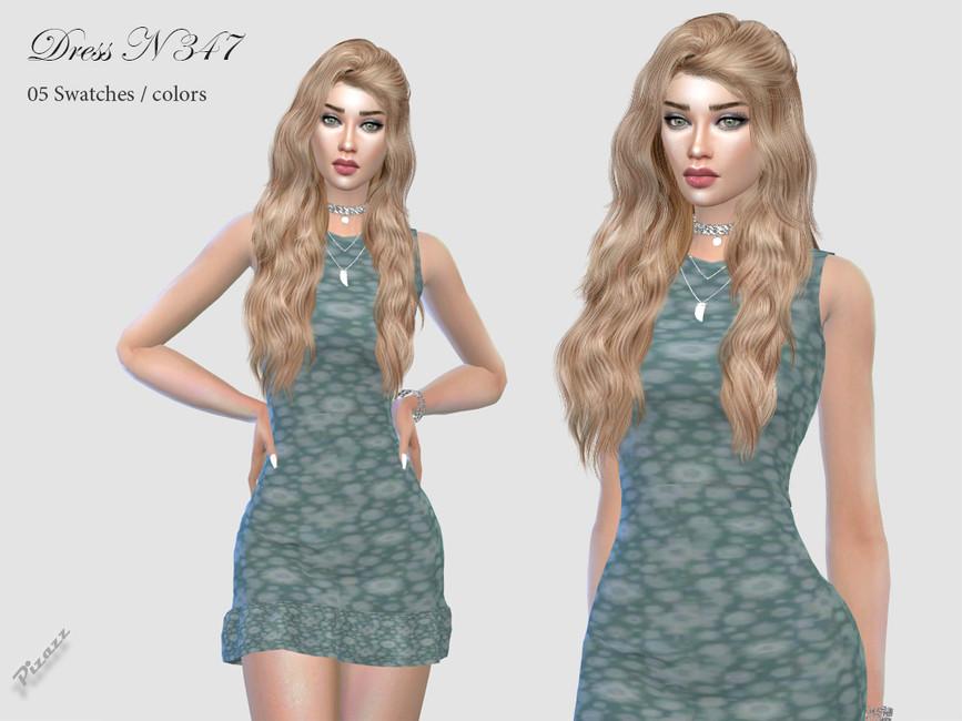Платье DRESS N347 Симс 4