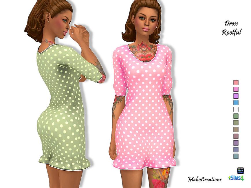 Платье Dress Rootful Симс 4