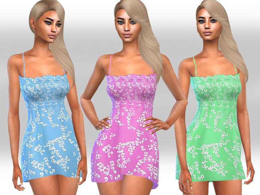 Платье Floral Summer Dresses Симс 4