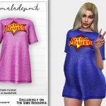 Платье Girl Power Dress MC202 Симс 4