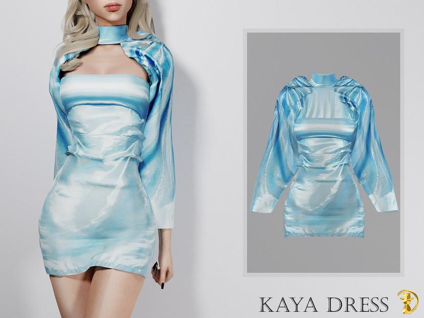 Платье Kaya Dress Симс 4