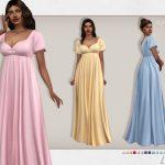 Платье Lisa Dress Симс 4