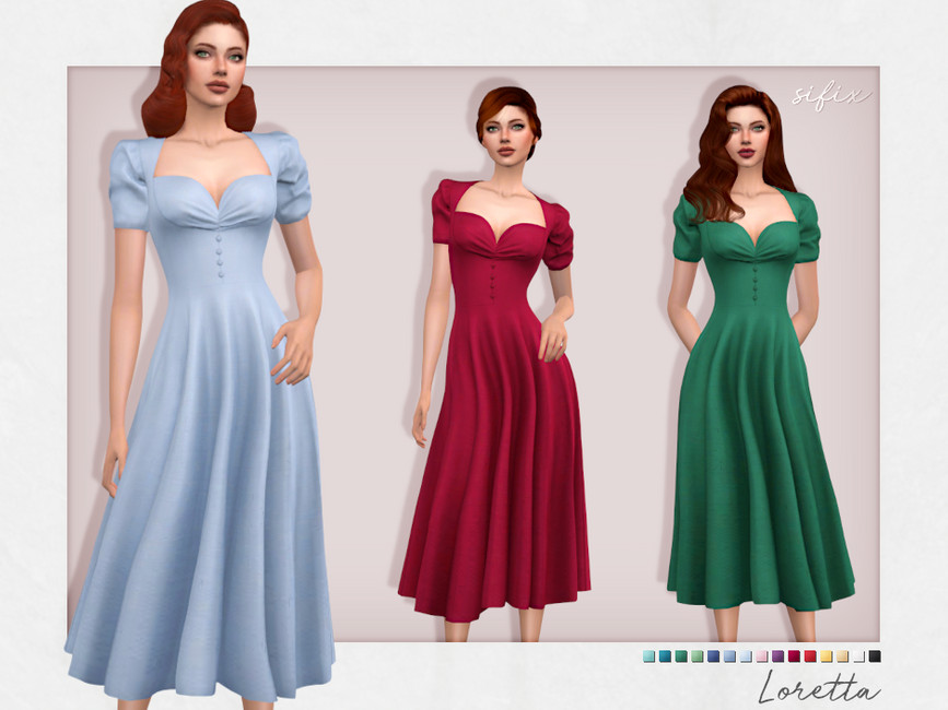 Платье Loretta Dress Симс 4