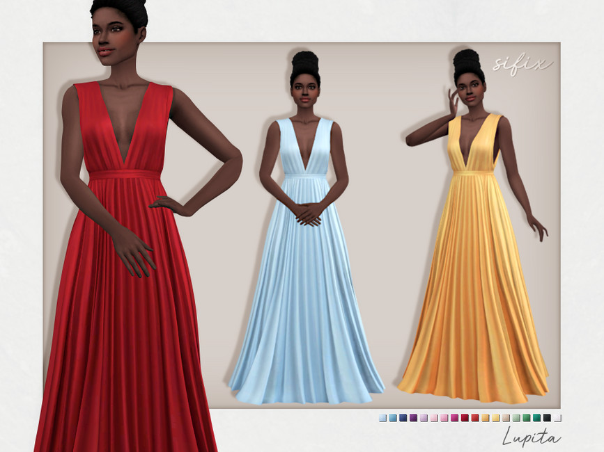 Платье Lupita Dress Симс 4