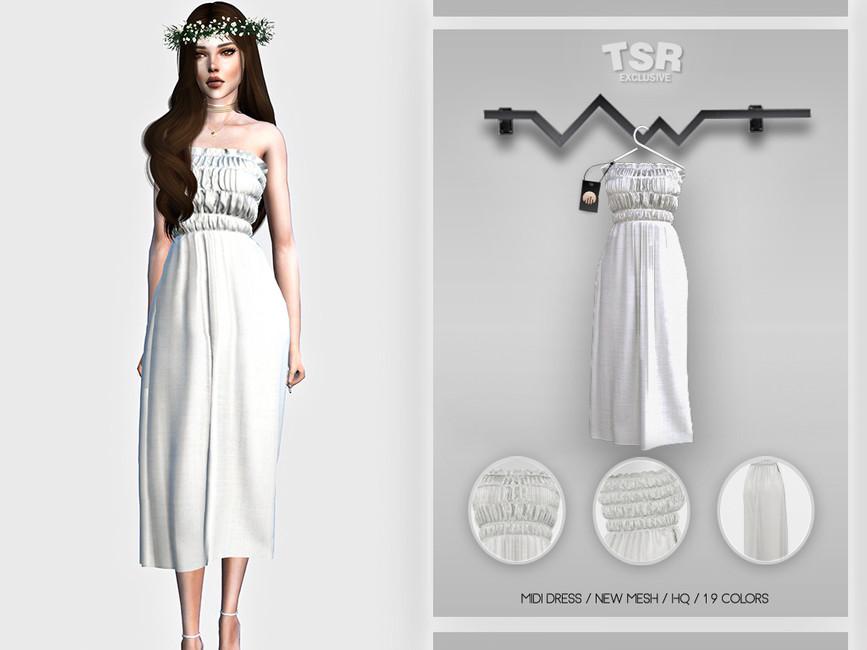 Платье Midi Dress BD457 Симс 4
