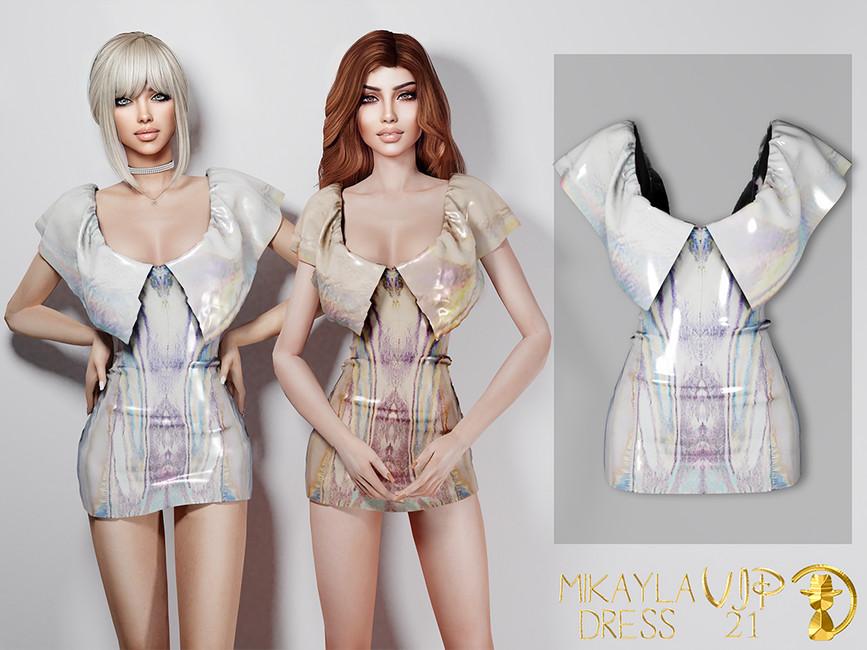 Платье Mikayla Dress VIP21 Симс 4