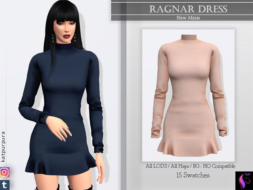 Платье Ragnar Dress Симс 4