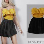 Платье Rosa Dress Симс 4