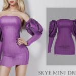 Платье Skye Mini Dress Симс 4