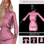 Платье SpringTime Collection - Dress VII Симс 4