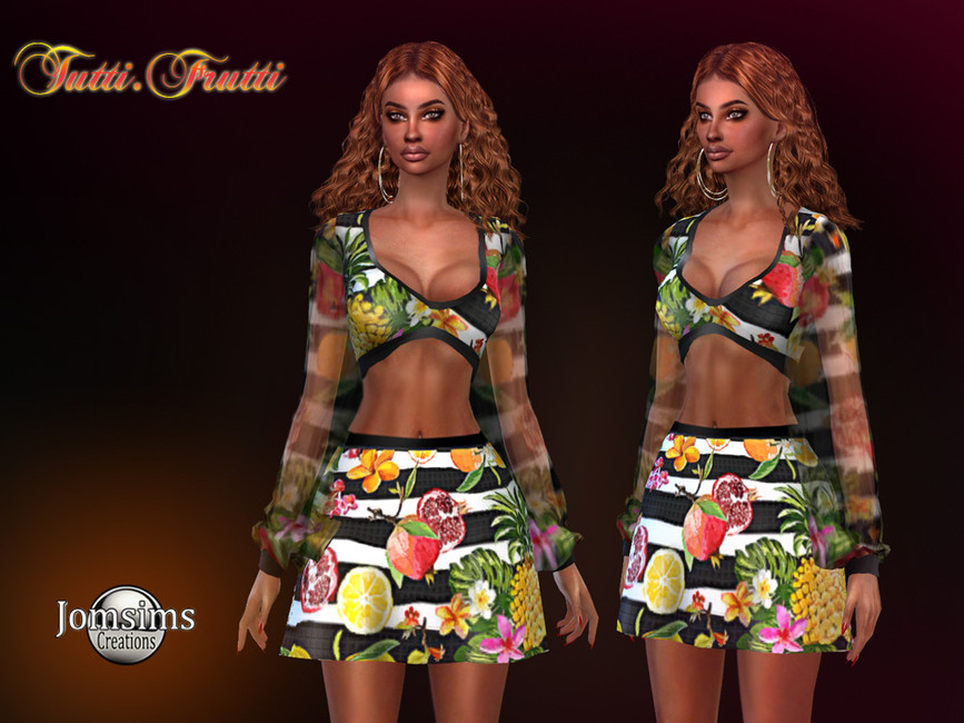 Платье Tutti Frutti Dress Симс 4