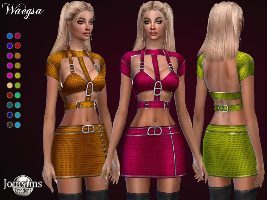 Платье Waegsa Dress Симс 4