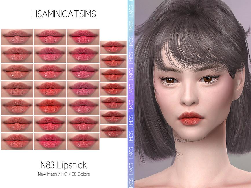 Помада для губ LMCS N83 Lipstick (HQ) Симс 4