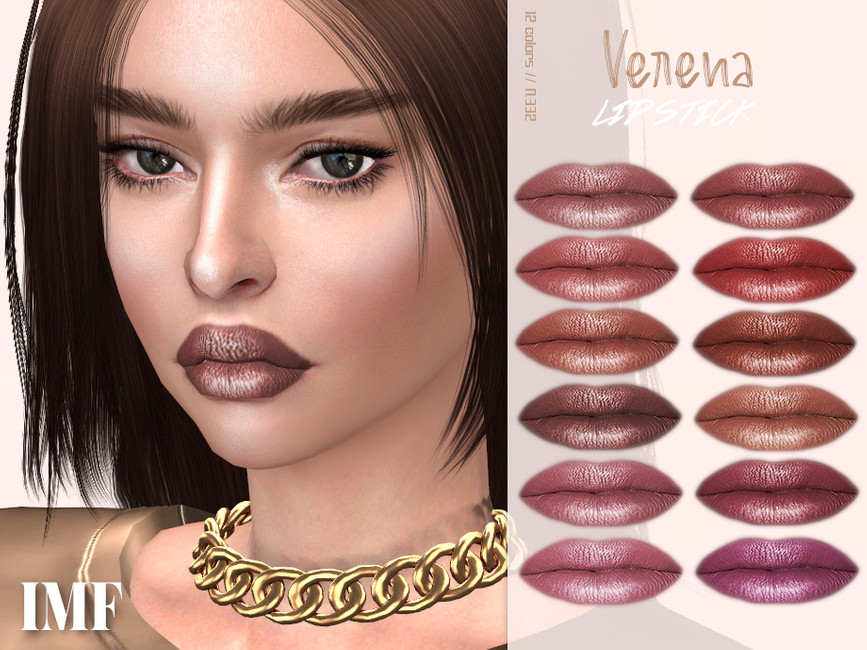 Помада IMF Verena Lipstick N332 Симс 4