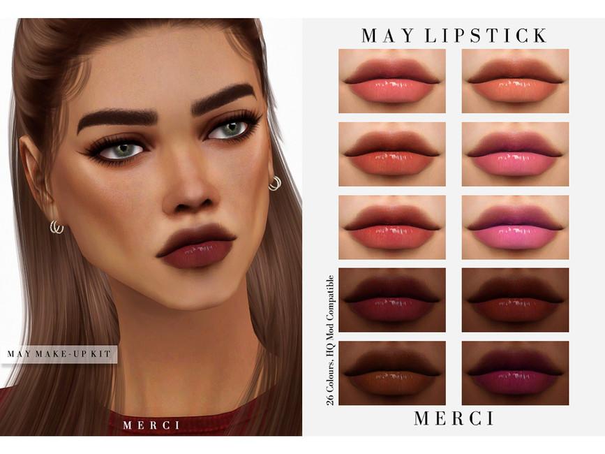 Помада May Lipstick Симс 4