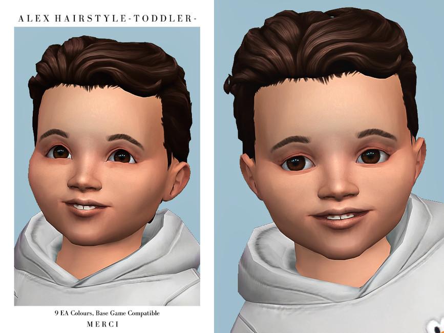 Прическа Alex Hairstyle Toddler Симс 4