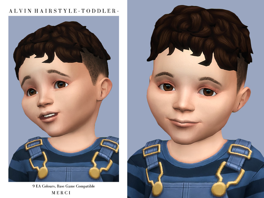 Прическа Alvin Hairstyle Toddler Симс 4