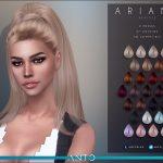 Прическа Ariana (Patreon) Симс 4