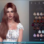 Прическа для девушек Elena (Patreon) Симс 4