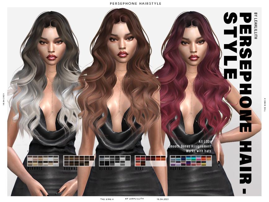 Прическа Persephone Hairstyle Симс 4