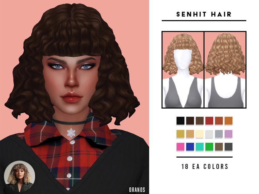 Прическа Senhit Hair Симс 4