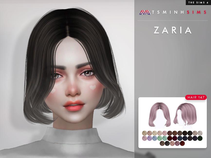 Прическа Zaria (Hair 147) Симс 4