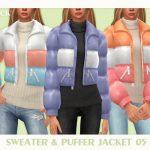 Пуховик со свитером Симс 4